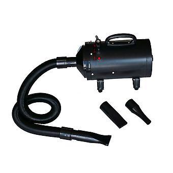 vidaXL secador de perros con 3 boquillas negras de 2400 W