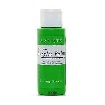 Spring Green hantverk Artiste Alla ändamål akryl Craft Paint - 59ml