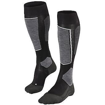 Falke Skiing 6 Knie hohe Socken - Schwarz Mix