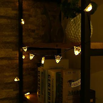 20 Led Tree Shaped Fairy Light String With Solar Panel Outdoor Garden Decor