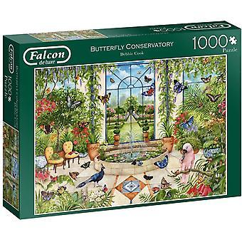 Jumbo Falcon de Luxe-Butterfly Conservatory 1000 Piece Jigsaw