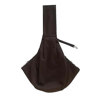 Pet Cotton Shoulder Bag Outing Messenger Bag Adjustable Padded Shoulder Strap(Coffee)