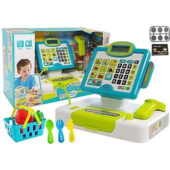 Spielzeug-Kinderkasse mit Einkaufswagen