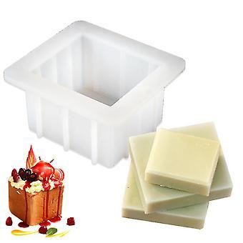 סיליקון מרובע סבון עובש לבן לאפות עובש