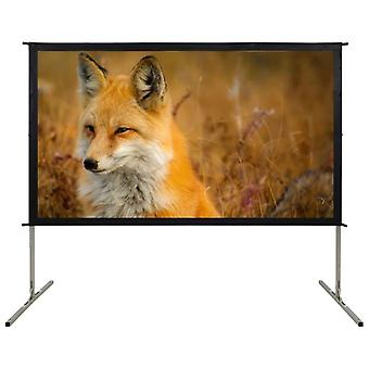 """Fast-Fold Projection Screen 90"""" 16:9 Film Display Projector Screen"""