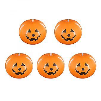 5 Pcs Citrouille Halloween Ballons, Light Up Balloons Peut Être Usde Pour Bar, Maison, Bureau, Halloween, Fête, Anniversaire, Décorations de Vacances (orange)