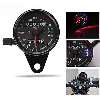 Prędkościomierz motocyklowy 12V Licznik kilometrów ze wskaźnikiem LED Podwójny miernik prędkości
