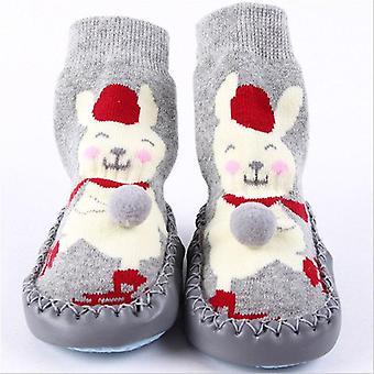 الشتاء سميكة تيري القطن طفل أحذية جورب داخلي