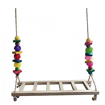 Parrot Medium And Large Toy Ladder Chicken Swing Gnawing Bird Toy Parrot Toy