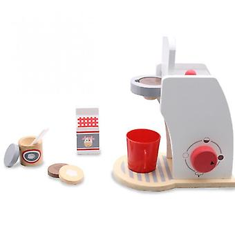 Pretend Play Wooden Kitchen Simulation Wooden Coffee Machine Toaster Machine Food Mixer Baby Early Learning Toys
