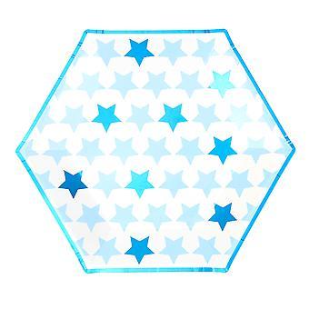 Pieni tähti sininen - suuret paperilevyt