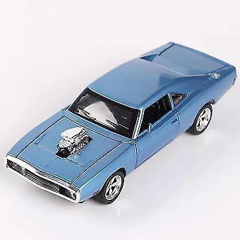 מכוניות טוב 1/32 דודג' מטען diecast סגסוגת מכונית דגם כחול