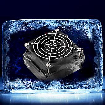 Aluminium 80mm Refroidissement par eau Refroidi Rangée Échangeur de chaleur Radiateur + ventilateur pour Cpu Pc