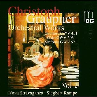 C. Graupner - Graupner: Orchestral Works, Vol. 2 [CD] USA import