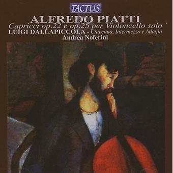 A.C. Piatti - Alfredo Piatti: Cappricci Per Violoncello Solo Op. 22 E Op. 25 [CD] USA import