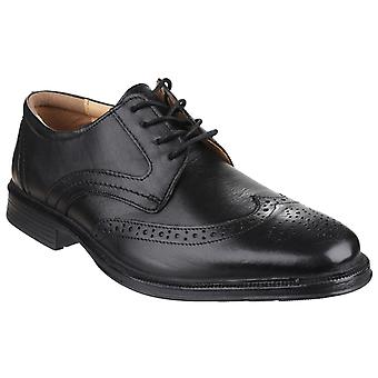Cotswold Mens Mickleton Lace Up Brogue Shoe Black