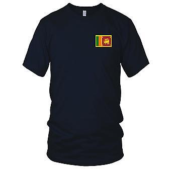 Sri Lanka pays drapeau National - brodé Logo - T-Shirt 100 % coton T-Shirt Mens