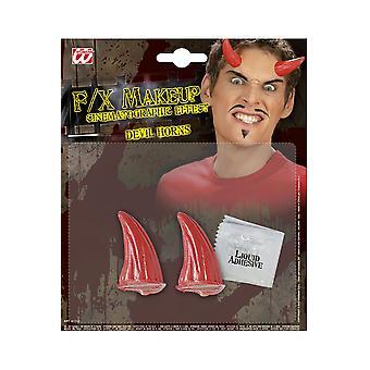 Chifres do diabo vermelho de Halloween e de horror