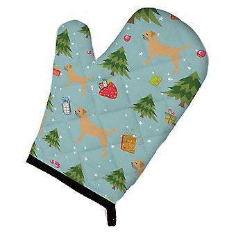 Carolines Treasures  BB4813OVMT Christmas Border Terrier Oven Mitt