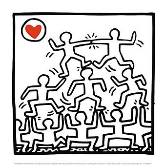 One Man Show (Detail 2) Poster Print by Keith Haring (12 x 12)