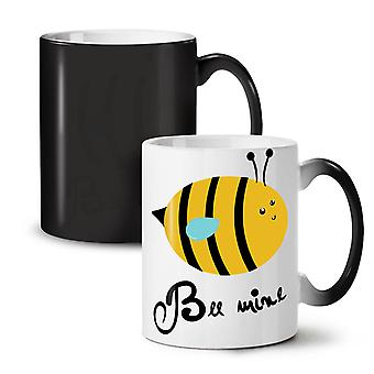 Bee Mine Pun Joke Funny NEW Black Colour Changing Tea Coffee Ceramic Mug 11 oz | Wellcoda