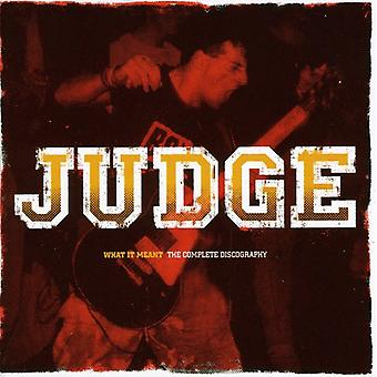 Judge - What It Meant: The Complete Discography [CD] USA import