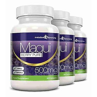 Maqui Berry Antioxidant Supplement 500mg Capsules - 180 Capsules - Antioxidant - Evolution Slimming