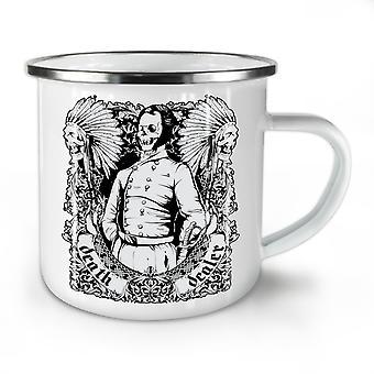 Morte comerciante EUA novo WhiteTea café esmalte Mug10 oz | Wellcoda