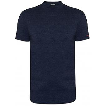 DSQUARED2 Underwear DSQUARED2 Slim Fit Blue Melange Logo Crew Neck T-Shirt