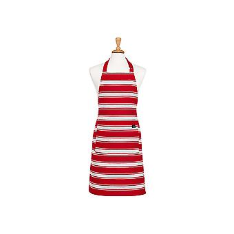 Ladelle Butcher Stripe Series II Red Apron