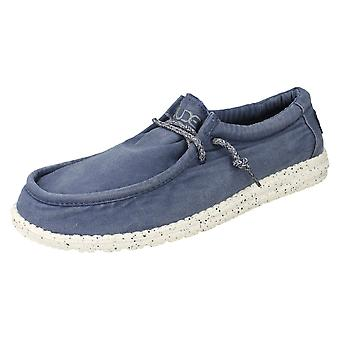 Mens Hey Dude Moccasin Shoes Wally Washed