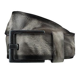 BERND GÖTZ belts men's belts leather belt grey 3718
