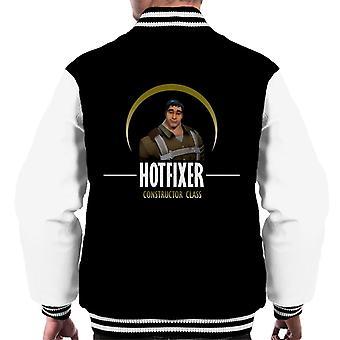 Fortnite Hotfixer Constructor klasse groene mannen Varsity Jacket