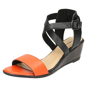 Ladies Leather Collection Open Toe Sandals F10502