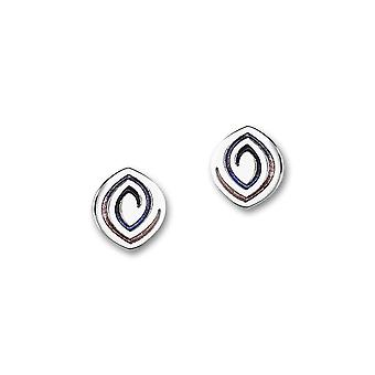 Sterling Silver Traditional Contemporary Modern Maggies Design Pair of Earrings - EE370