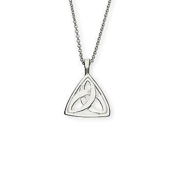 Sterling Silver handgjorda skotska Celtic evigheten Treenigheten Knut halsband hänge - P256