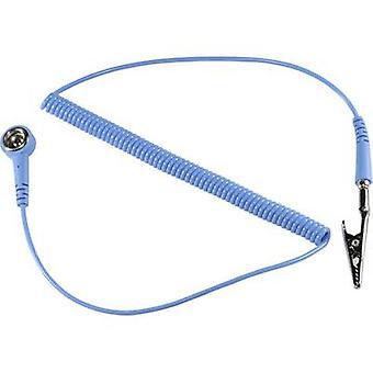 TRU COMPONENTS SpKL -4-183-SK ESD earth cable 1.83 m 4 mm stud and socket, Alligator clip