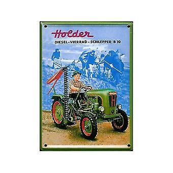 Indehaveren traktor Metal postkort / mini tegn