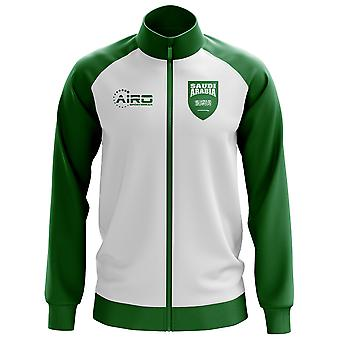 Arabia Saudita concepto fútbol pista chaqueta (blanco)