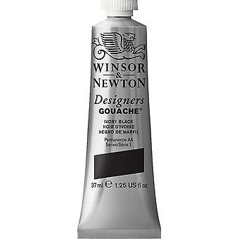 Winsor & Newton Designers Gouache 37ml (Ivory Black)