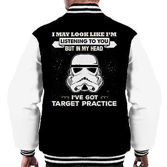 Original Stormtrooper I May Look Like Im Listening To You Men's Varsity Jacket