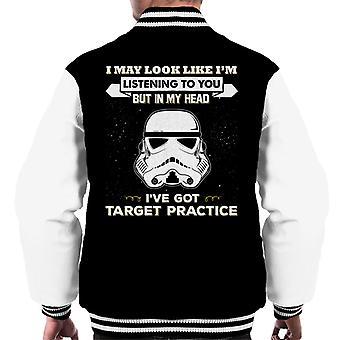 Originele Stormtrooper kan ik eruit als Im luisteren naar u mannen Varsity Jacket