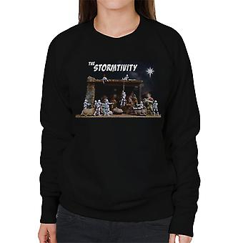 Originele Stormtrooper de Stormtivity kerst sterren vrouwen Sweatshirt