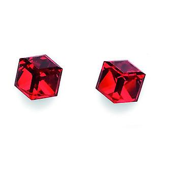 Oliver Weber Post Earring Wurfel Crystal.