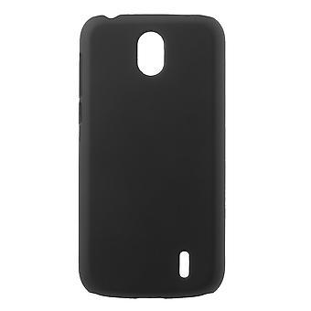 Nokia 1 Gumowana twarda plastikowa powłoka - czarna