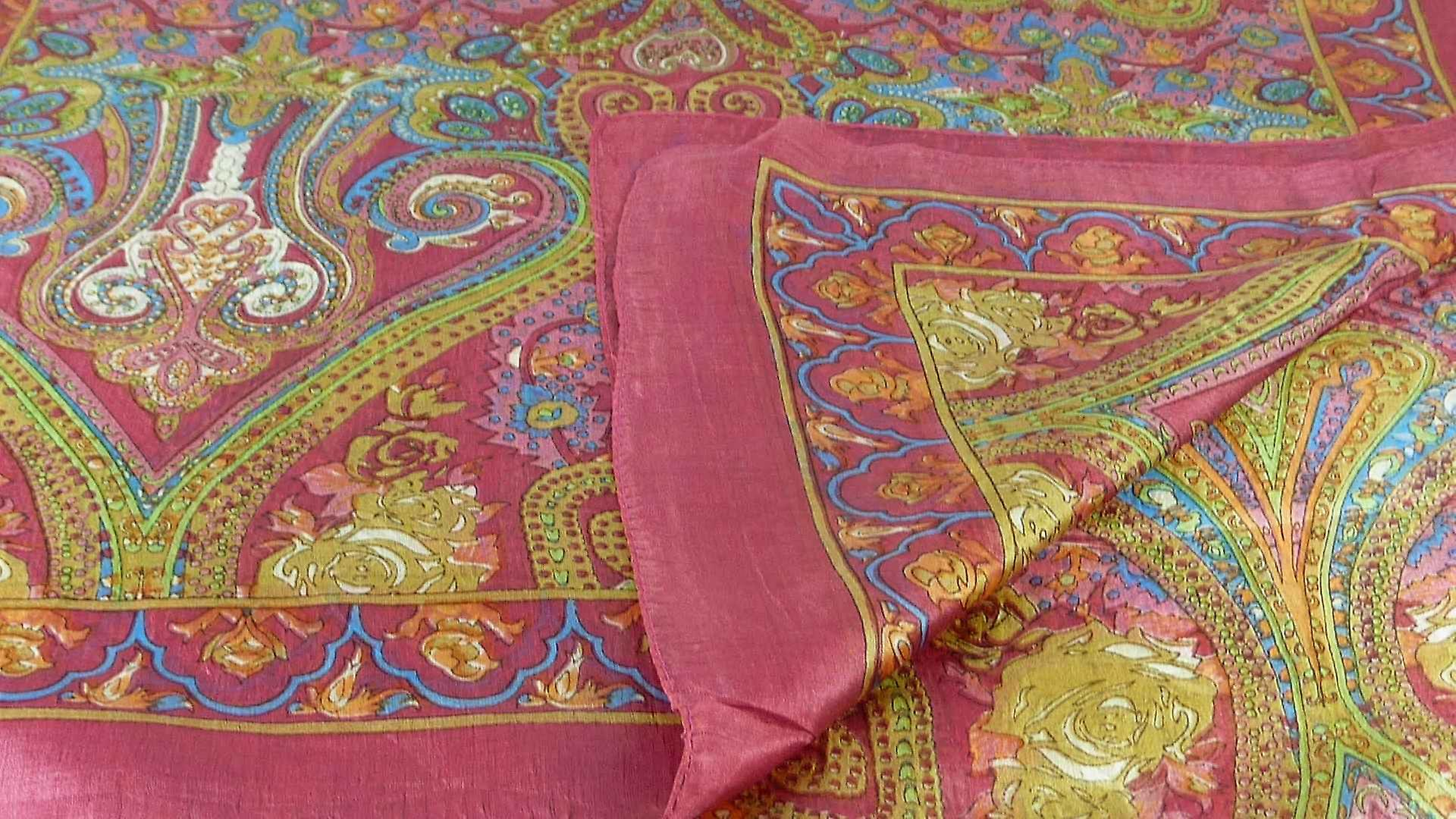 Mulberry Silk Traditional Long Scarf Worli Rose by Pashmina & Silk