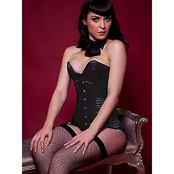Killer Corsets Women's Corset Satin Black Victorian Underbust Sweetheart Design