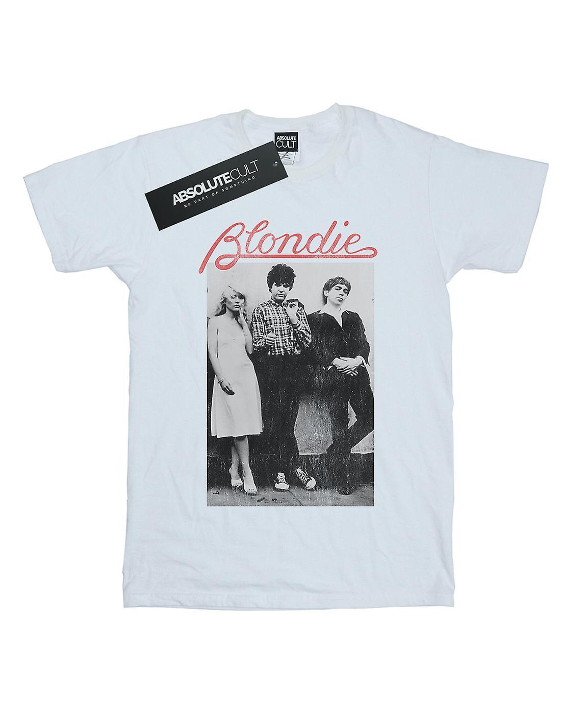 Blondie Women's Distressed Band Boyfriend Fit T-Shirt