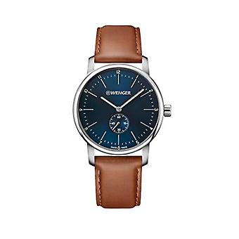 Wenger Mens Quartz Analog leather strap 01.1741.103