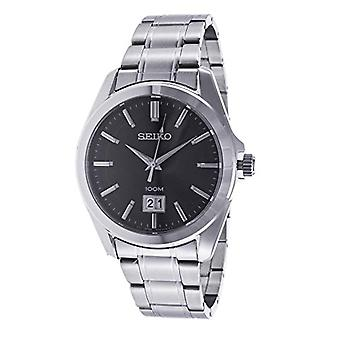 Seiko Mens Quartz analog watch with stainless steel band SUR009P1